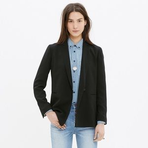 Madewell Black Collarless Blazer 6